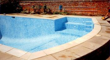 Mosaic overtile to old traditional Marbalite Pool